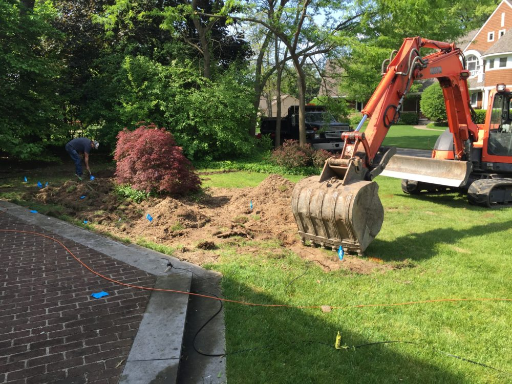 Repair of a Front Yard After a Tree Had Been Removed