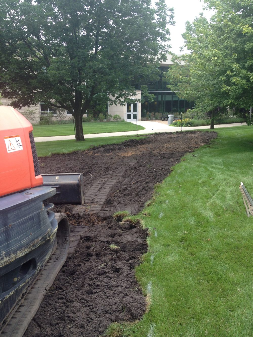 New sidewalk at Indiana University